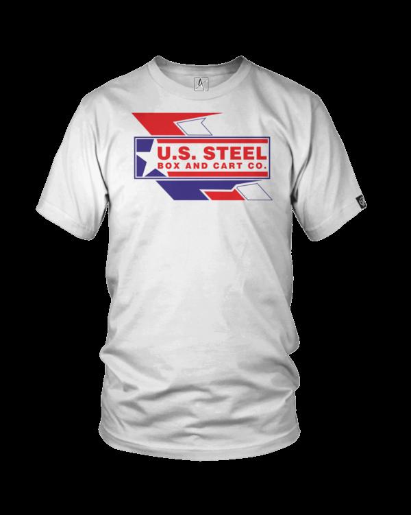 us steel logo white