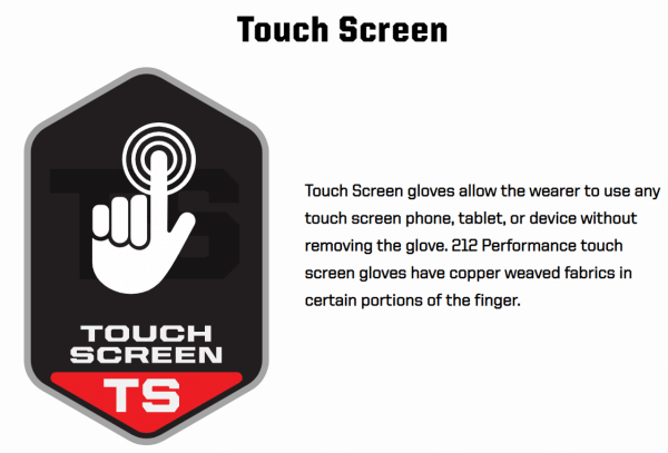 212 GRIP Touch Screen Gloves