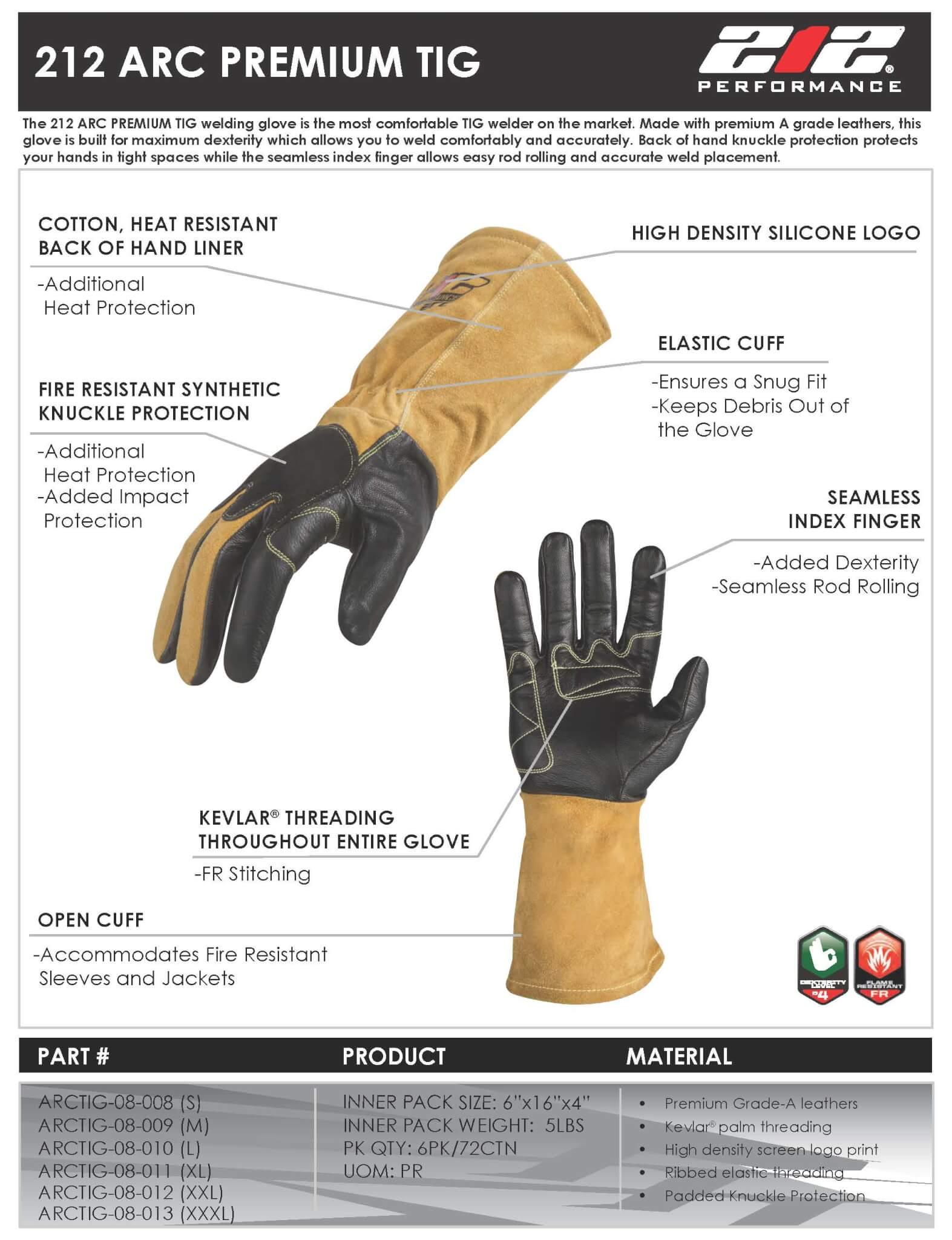 212 ARC Premium TIG Welding Gloves