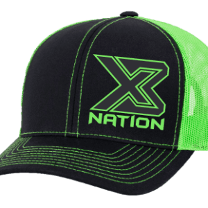 X3 Nation Black Neon Hats