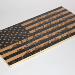 "16""X8"" U.S. Flag Pledge Wall Art"