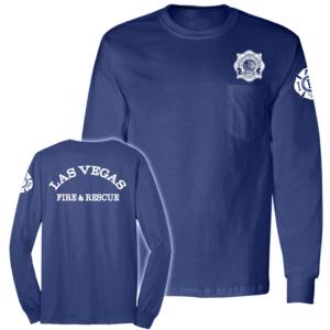 LVFD - Long Sleeve Pocket Tshirt BAYSIDE