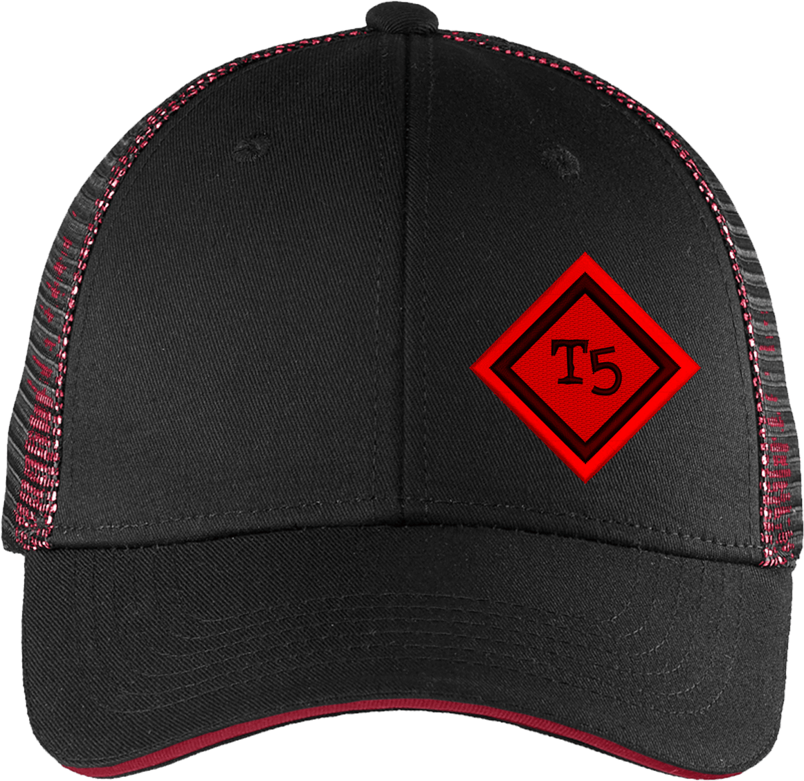 Team 5 diamond hat black / red