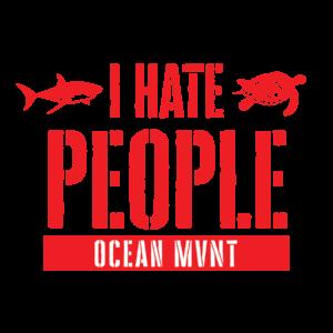 Ocean MVMT I Hate People Tee
