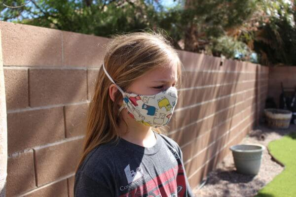 kids lama face mask