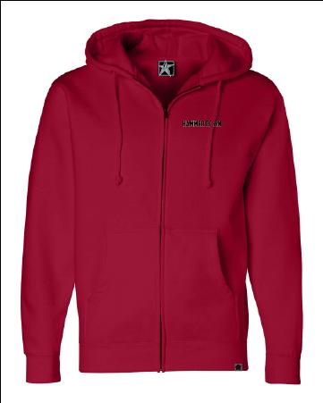 hammerdown hd front zip hoodie ind4000z