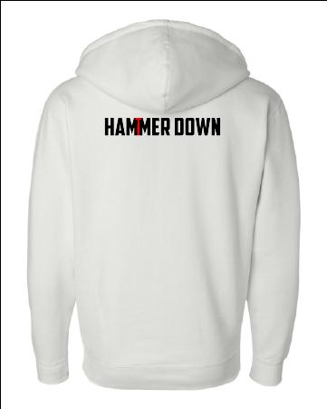 hammerdown front zip hoodie ind4000z