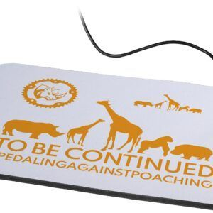 Pedaling Against Poaching No Wire Mouse Pad