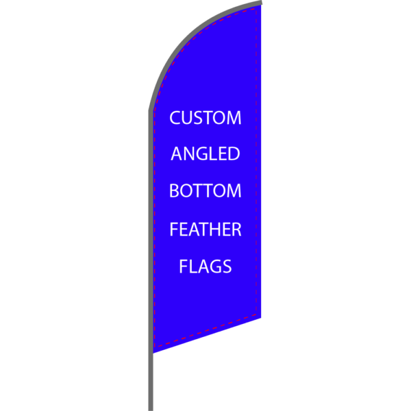 Angled Bottom Feather Flag