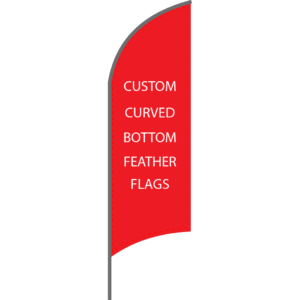 Curved Bottom Feather Flag